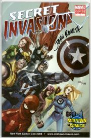 Secret Invasion #1 Midtown Variant Dynamic Forces Signed John Romita Sr DF COA Marvel comic book